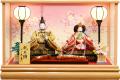 【雛人形】久月作 「よろこび雛」二人親王 ケース飾り (65980)