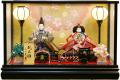 【雛人形】久月作 「よろこび雛」二人親王 ケース飾り (65984)