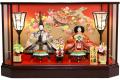 【雛人形】久月作 「よろこび雛」二人親王 六角ケース飾り (69774)