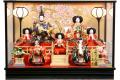 【雛人形】久月作 七人飾り「よろこび雛」 ケース飾り (69815)