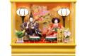 【雛人形】久月作 「よろこび雛」二人親王 ケース飾り (69801)