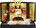 【五月人形】秀童作 「龍頭付き大鍬兜 子供大将」 武者人形平飾り(7-4)