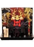 【五月人形】吉徳大光作 「真田幸村兜」二曲屏風平飾り(736-939)