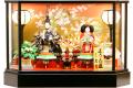 【雛人形】久月作 「よろこび雛」二人親王 ガラスケース飾り (9910)