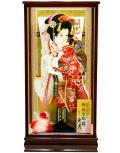 【羽子板】久月作  初音振袖「花」 春華ケース飾り(15230-2)