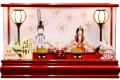 【雛人形】 久月作 木目込み 「ほのか 瑞希雛」 アクリルケース飾り(HN2-1U)