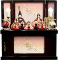 【雛人形】 久月 新井久夫作 「ほのか 瑞希雛」 木目込み 五人収納飾り(HN53-N)