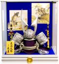 【五月人形】久月作 家紋「着用兜」ガラスケース飾り(K514108)