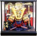 【五月人形】久月作 「鍬形 兜」ガラスケース飾り(K516101)