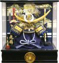 【五月人形】久月作 家紋「上杉兜」アクリル パノラマケース飾り(K516111)