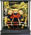 【五月人形】久月作 「伊達政宗 兜」ケース飾り(K51718)