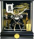 【五月人形】久月作 家紋「上杉謙信 兜」ケース飾り(K51746)