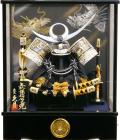【五月人形】久月作 家紋「上杉謙信 兜」ケース飾り(K51908)