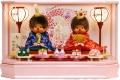 【雛人形】 「もんちっち雛人形」 親王アクリルケース飾り(MP)