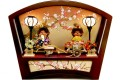 【雛人形】 「もんちっち雛人形」 親王アクリルケース飾り(MS)