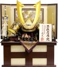 【五月人形】武光作 「立体中鍬形 着用兜」収納飾り(RA3012)