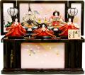 【雛人形】 久月作 「よろこび雛」五人 コンパクト収納飾り(S-24221)