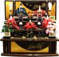 【雛人形】久月作 束帯十二単衣姿「百人一首 よろこび雛」 五人三段飾り(S-2841)