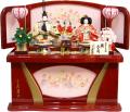 【雛人形】久月作 「よろこび雛」二人親王 コンパクト収納飾り (S-29181)