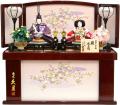 【雛人形】久月作 「よろこび雛」二人親王 コンパクト収納飾り (S-29192-3)