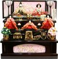 【雛人形】久月作 京都西陣織 帯地「よろこび雛」 収納式三段飾り(S-29236)