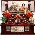【雛人形】久月作 「よろこび雛」 収納式 三段飾り (S-29240)
