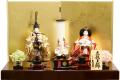 【雛人形】久月作 「正絹 立雛」  親王平飾り (S-30160)