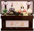 【雛人形】久月作 「よろこび雛」二人親王 コンパクト収納飾り (S-30183OU)