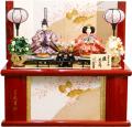 【雛人形】久月作 「よろこび雛」二人親王 コンパクト収納飾り (S-30188OU)
