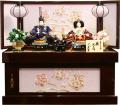 【雛人形】久月作 「よろこび雛」二人親王 コンパクト収納飾り (S-30195)