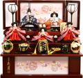 【雛人形】久月作 「よろこび雛」 収納式 三段飾り (S-30231)