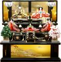 【雛人形】久月作 束帯十二単衣姿「よろこび雛」 五人三段飾り(S-3050)
