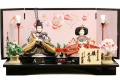 【雛人形】久月作 「よろこび雛」二人 親王平飾り (S-31102)