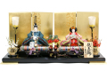 【雛人形】久月 二世 光匠作「親王飾り」二人平飾り (S-31128)