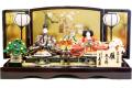 【雛人形】久月作 「よろこび雛」二人 親王平飾り (S-31129)