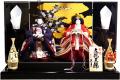 【雛人形】久月作 刺繍「立雛」 親王平飾り (S-31162OU)