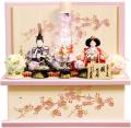【雛人形】久月作  ハーバリウム「よろこび雛」二人親王 コンパクト収納飾り (S-31221)