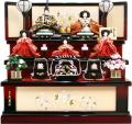 【雛人形】久月作 「よろこび雛」 収納式 三段飾り (S-31239)