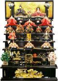 【雛人形】 久月作 「よろこび雛」木製 七段飾り(S-3183)