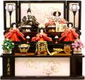【雛人形】久月作 「よろこび雛」 収納式 三段飾り (S-32244OU-2)