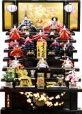 【雛人形】 久月作 「よろこび雛」木製 七段飾り(S-3283)