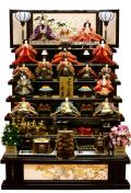 【雛人形】 久月作 よろこび雛 木製七段飾り(S-2701)