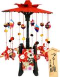 【雛人形】久月作 吊るし雛「傘福 赤」 (SI28-1)
