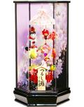 【雛人形】久月作 さげもん「吊るし雛 夢」 アクリルケース飾り(SYM-70)