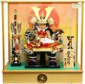 【五月人形】久月作 家紋「子供大将」 武者人形ケース飾り(T53317)