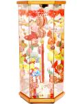 【雛人形】久月作 さげもん 欅「吊るし雛」 ガラスケース飾り(TAR22-2)