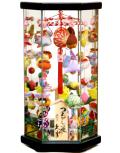 【雛人形】久月作 さげもん「吊るし雛」 ガラスケース飾り(TAR23-1)