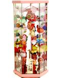 【雛人形】久月作 さげもん「吊るし雛」 ガラスケース飾り(TAR25-2)