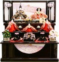 【雛人形】祐月作 「雛」 収納式 三段飾り (Y-370)