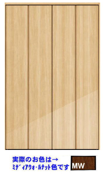 * 永大 クローゼット折れ戸       固定三方枠 下レールあり 0.75間×8尺 VXD-J523FMW(B品)  *